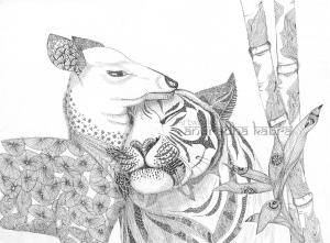 web-Deer and tiger
