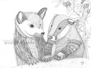 web-Dog and beaver
