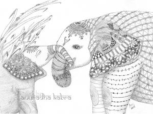 web-Elephant and baby