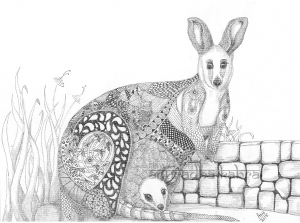 web-Kangaroo and baby