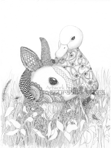 web-Rabbit and duckling