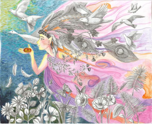 yin-yang-woman-with-birds