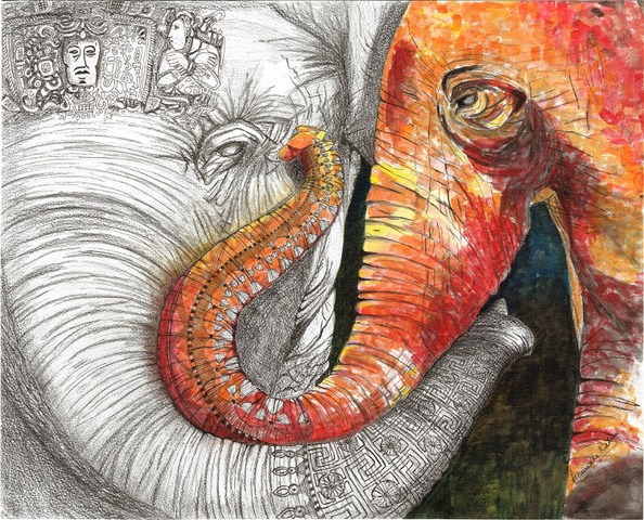 Elephant Pair-YinYang